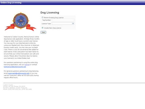 Dog License Preview